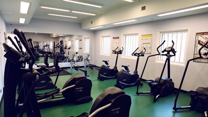 A fully equipped gym at the centre