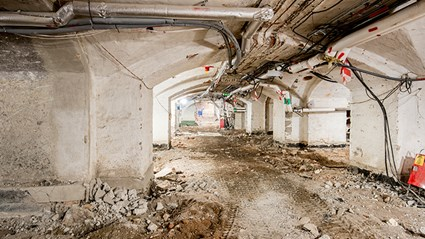 The basement floor will be lowered to create new visitor facilities. Photo: Urban Jörén