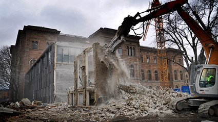 12 meters of the Annexe were demolished to make room for the loading facility. Photo: Urban Jörén