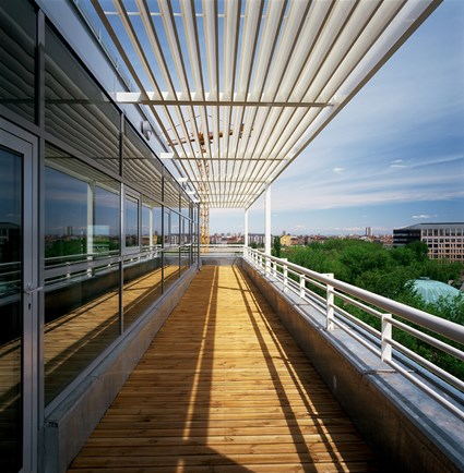 Terrace, Science Park, Budapest, Hungary
