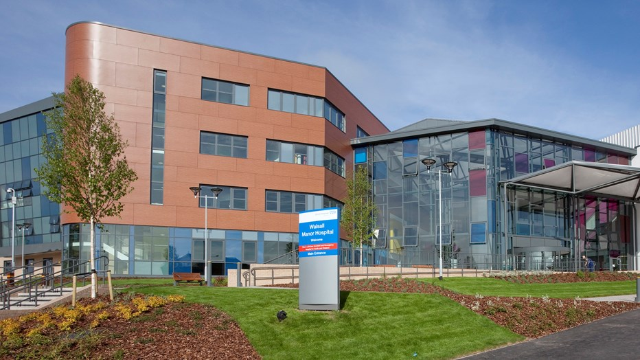 Manor Hospital, Walsall, has 558 inpatient beds and a diagnostic and treatment centre